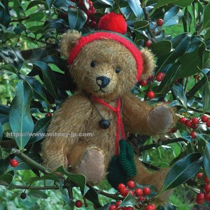 画像1: 【ウィットニー限定】 ウィットニー・クリスマスベア 26cm