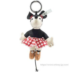 画像1: 【送料無料】 シュタイフ ディズニー ミニーマウス キーリング 12cm